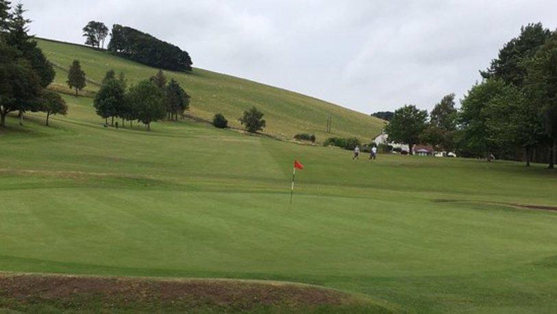 Cupar golf club 9th green