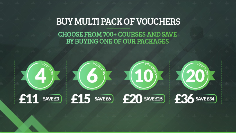 Golf voucher multipack